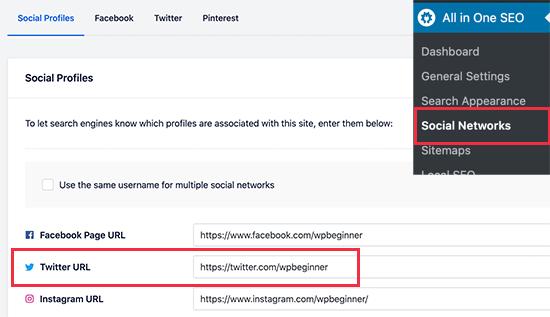 URL های نمایه رسانه های اجتماعی خود را اضافه کنید