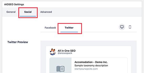 تنظیم تصویر کارت توییتر برای یک دسته وردپرس