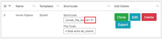 شناسه ابزارک Flipbox