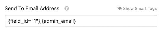 ارسال به آدرس ایمیل کاربر و مدیر