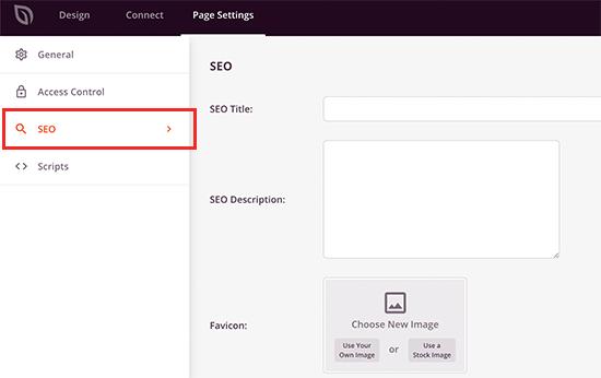 تنظیمات جستجوگرها برای صفحه شما به زودی