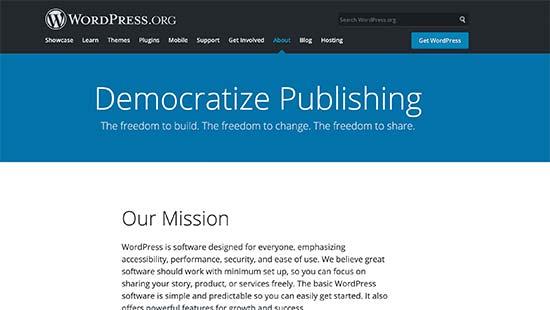ماموریت وردپرس دموکراتیک کردن انتشارات است
