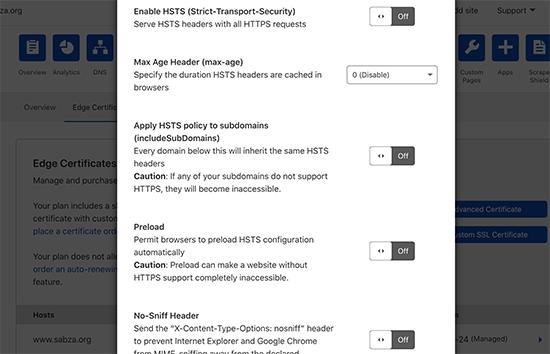 سرصفحه های امنیتی HTTPS را در Cloudflare فعال کنید