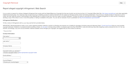 گزارش محتوای سرقت شده کنسول جستجوی Google