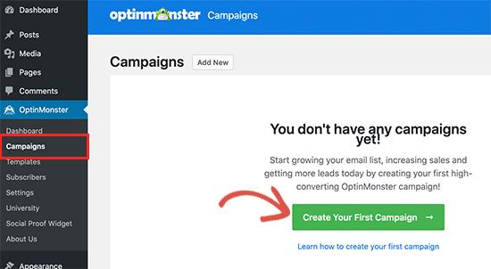 کمپین جدیدی ایجاد کنید