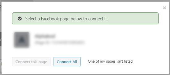 صفحه فیس بوک خود را متصل کنید
