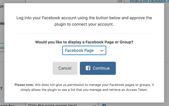 ادامه اتصال به فیس بوک