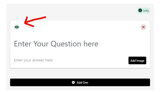 طرح جلوی سوالات متداول را روشن یا خاموش کنید